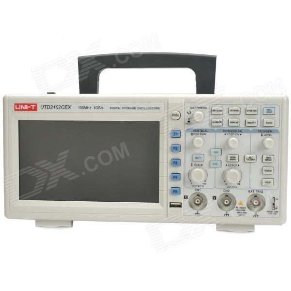 "UNI-T UTD2102CEX Digital 7"" TFT LCD 2-Channel Storage Oscilloscope - White + Grey - Free Shipping - DealExtreme"