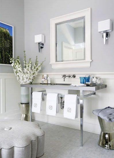 pale gray bathroom