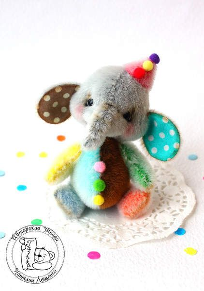 Mini elephant Confetti by Tashka's Bears