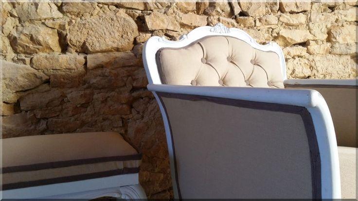 Country chic bútor, kényelmes fotel
