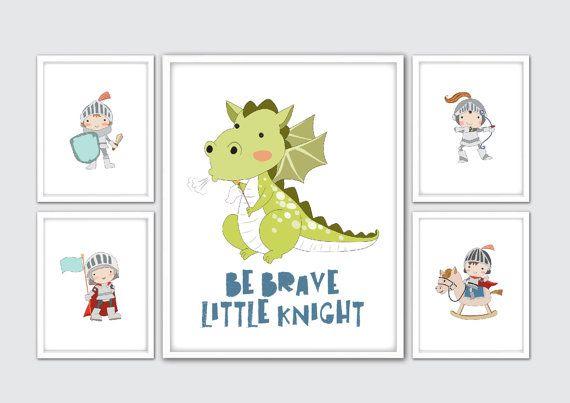 Knight Nursery Print Knight Nursery Decor Baby by RomeCreations