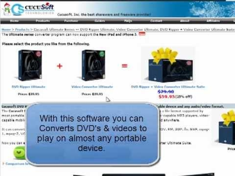 Get Cucusoft DVD Ripper + Video Converter Ultimate Suite Coupon Code 41 % OFF - YouTube