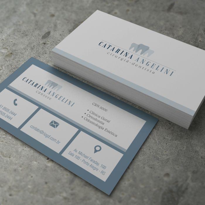 Cartão de Visita Slim - Classic - Gelo