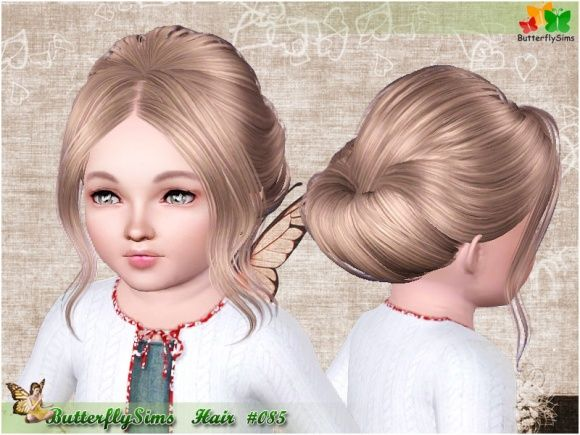 Sims 3 Finds - Hairstyle 085 by Miao at Butterfly Sims