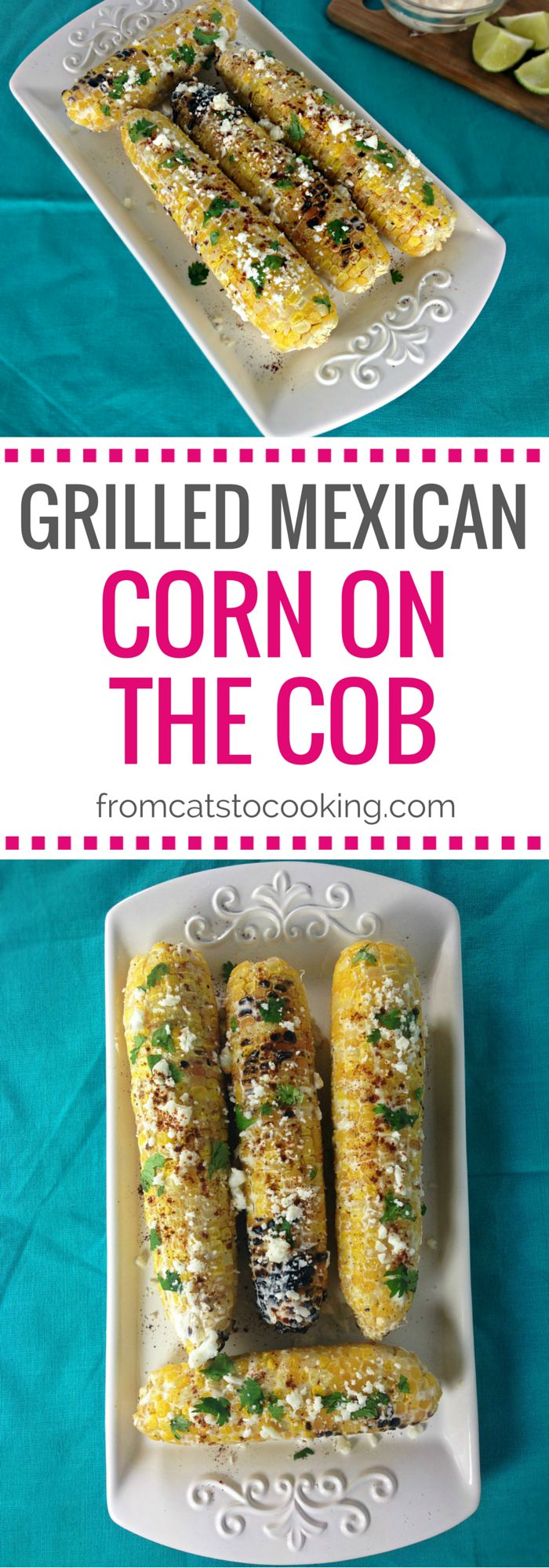 """This Grilled Mexican Corn on the Cob recipe is also known as Mexican """"Street"""" Corn. It's a great side dish for the spring and summer months and is gluten-free."""