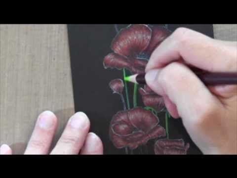 ▶ How to Color with Derwent Coloursoft Pencils - YouTube