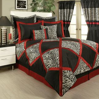 overstock sherry kline true safari black 4piece bedding collection this luxurious