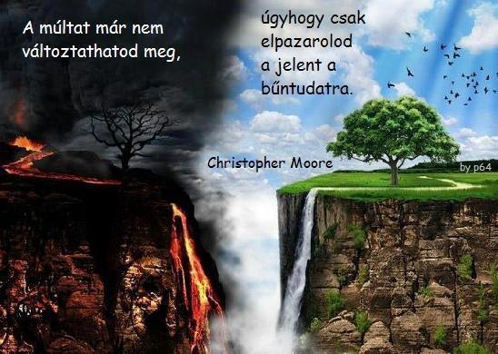 Christopher Moore idézete a bűntudatról. A kép forrása: Angyali Hangok Üzenetei