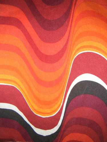 1960s fabric Frequency by Barbara Brown for Heals