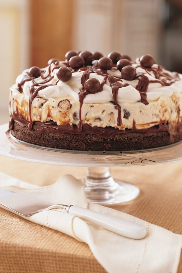 Ice Cream Cake with your favorite candy on top is a party just waiting to happen!