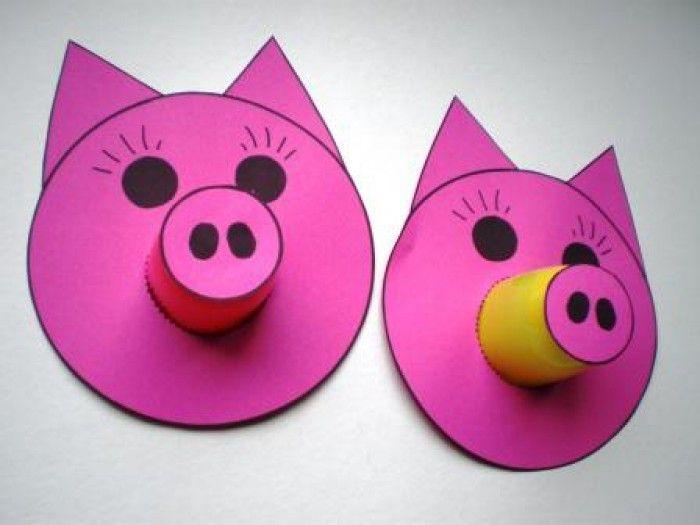 grappige varkens knutselen met de kids