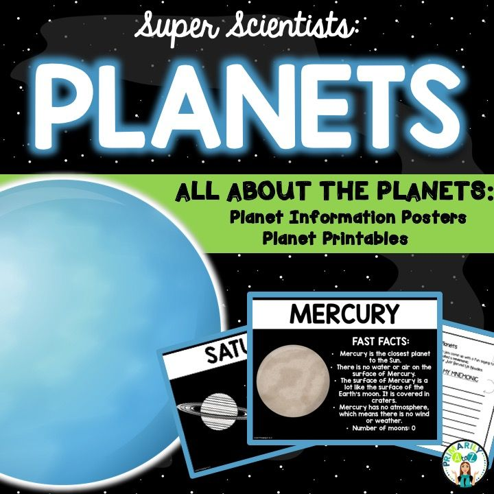 Planet Fact Posters & Printables! Perfect for primary grades