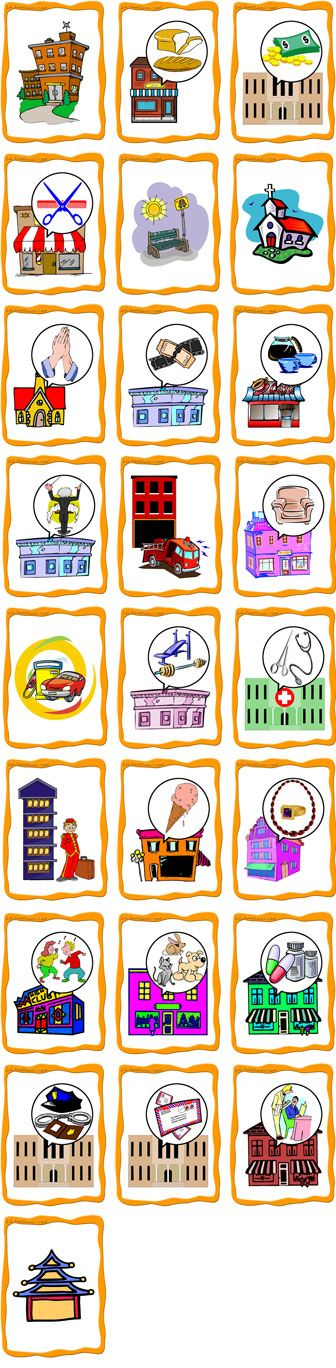 Places in town flashcards