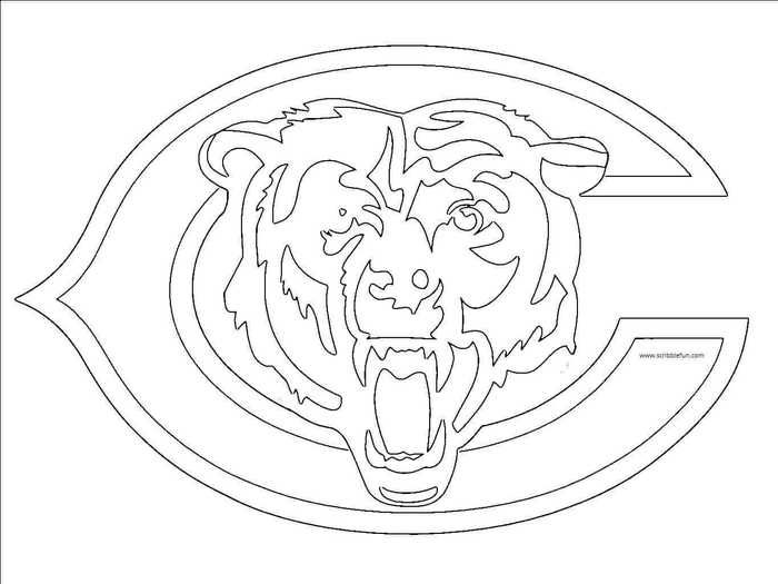 Nfl Logo Coloring Pages Printable Bear Stencil Bear Coloring Pages Chicago Bears Logo