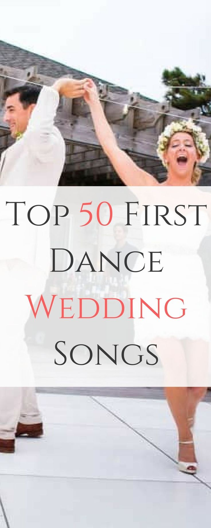 Wedding  planning is often more stressful than most couples expect, and as DJs we hate  when wedding playlists are hastily put together, so we decided to give couples  in planning some inspiration for their wedding's first dance songs.