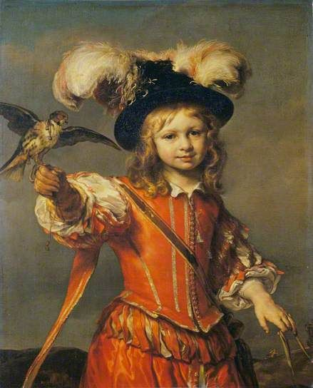 A Boy with a Falcon and Leash c.1665 -  Joan van Noordt