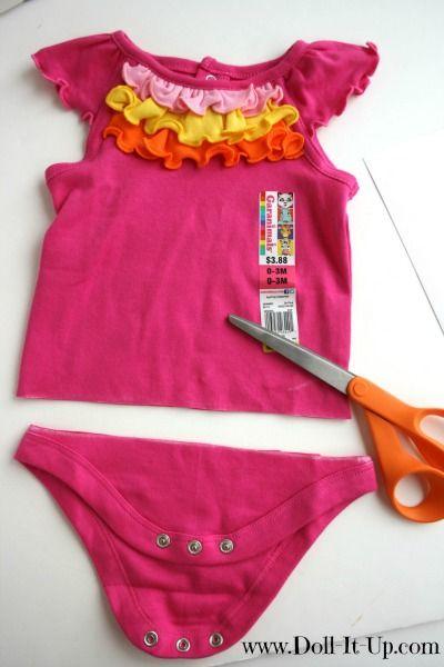 Puppenkleid aus Body