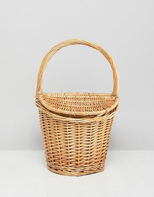 c766e7b2be Mango mini picnic basket bag in natural