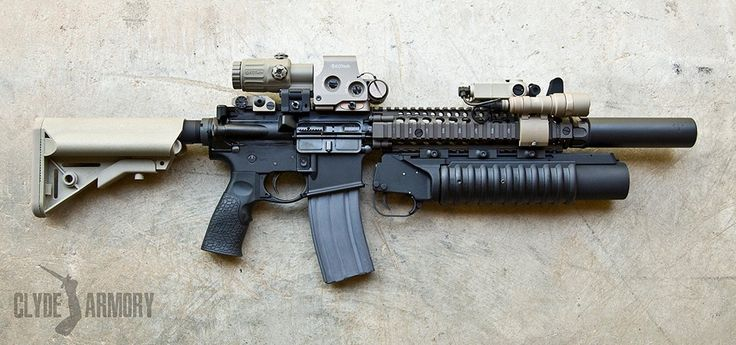 Daniel Defense Mk18 with M203 and EOTech holographic sight