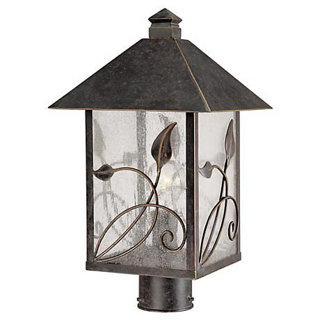 "French Garden Collection 17"" High Outdoor Post Light - #71034 