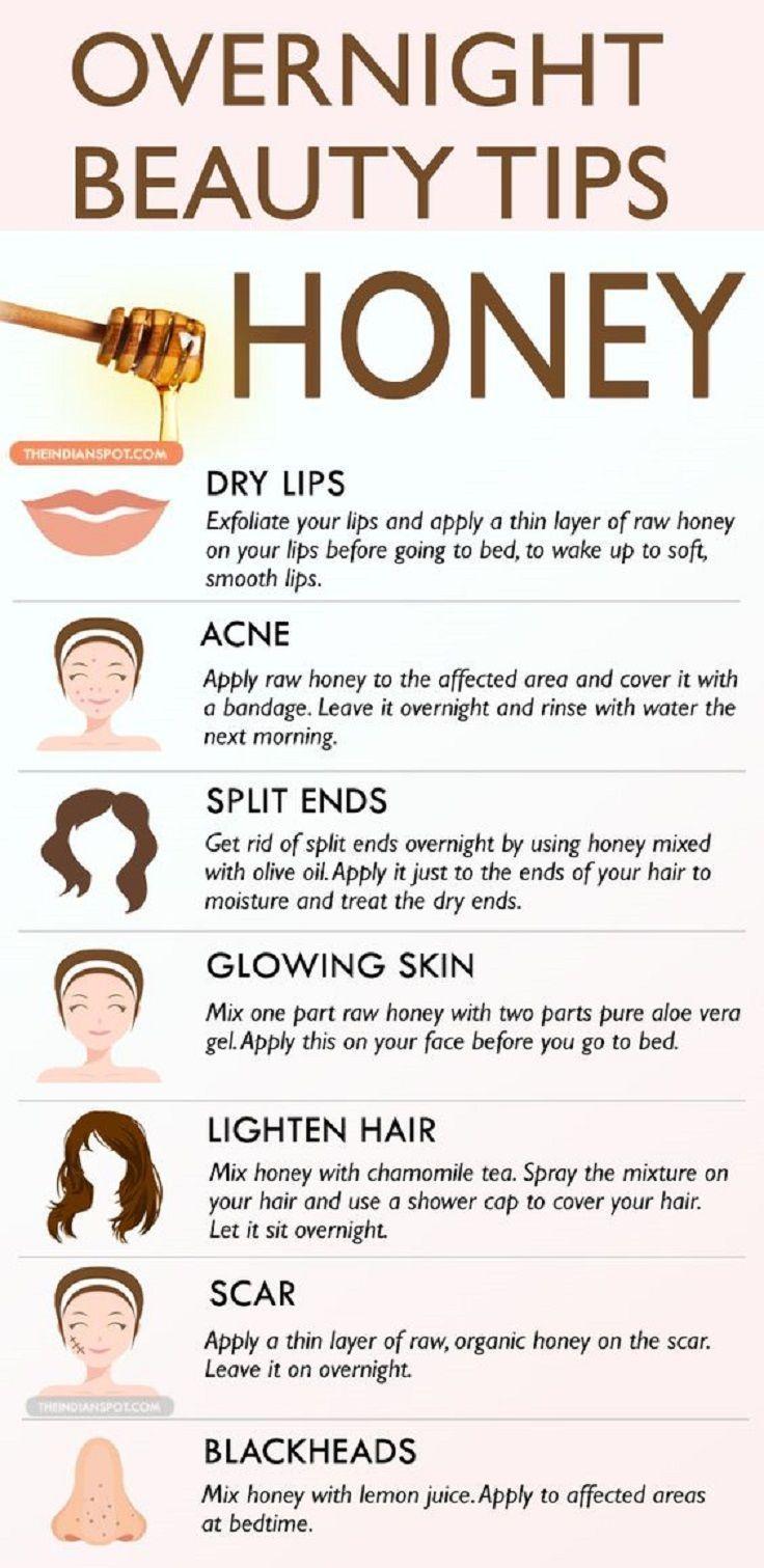 25 + › Über Nacht # Beauty-Tipps mit Honig – 14 nützliche Beauty-Tipps für Gesicht und Körper … #schönheit #honig #Nacht
