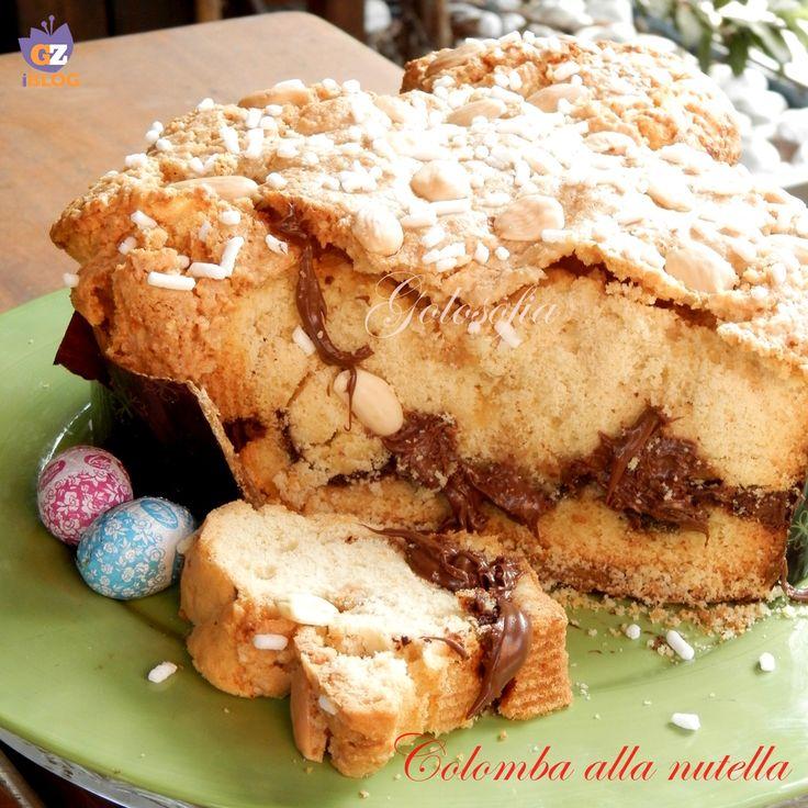 Colomba alla nutella, buonissima e soffice, un dolce pasquale semplicissimo che non prevede lievitazione. Ideale per chi non vuole impazzire per Pasqua! ;)