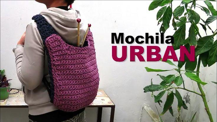 Mochila Urban a crochet