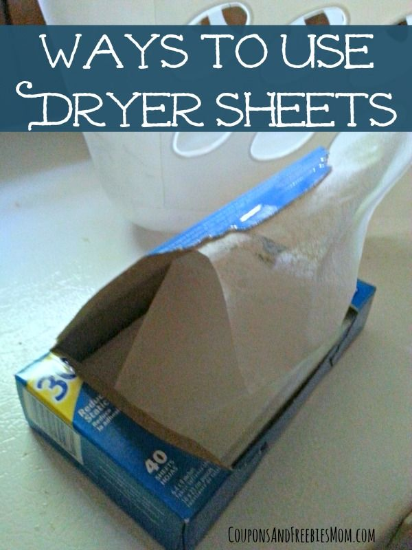 Dryer Sheet Uses: 8 Other Ways to Use Dryer Sheets! Check out these creative and easy ways to use and re-use dryer sheets to save money! You'll wonder why you weren't doing these sooner!