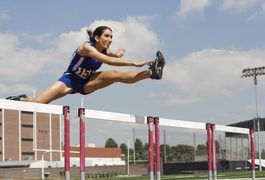 Track and field consists of competitions that include running, hurdles, jumping and throwing. A common running and hurdle event in high school is the 300-meter hurdles. Competitors are required to run 300 meters while jumping over a series of eight hurdles. Running a fast 300-meter hurdle event requires a combination of speed, power, endurance,...