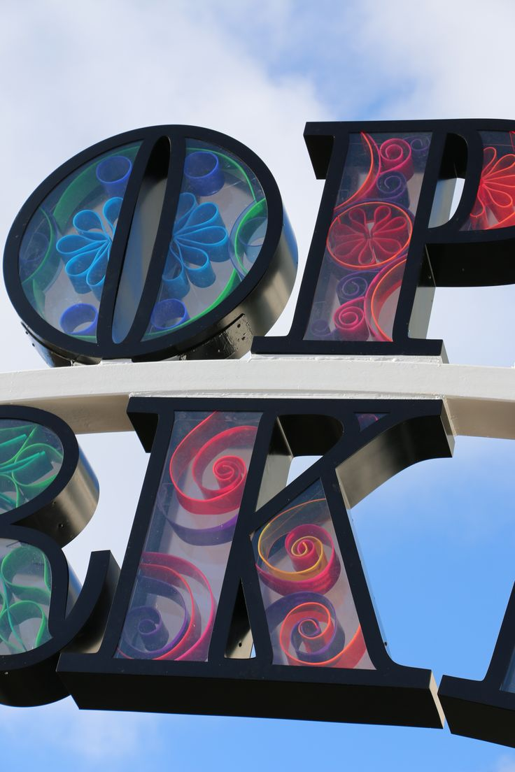 Detail Brighton Open Market Archways. Concept and Design Lucid Design. Design based on paper quilling.
