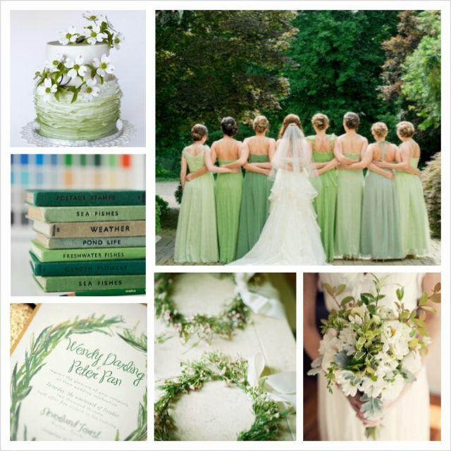 Spring Wedding Colors 2014: Hemlock Moodboard Wedding By