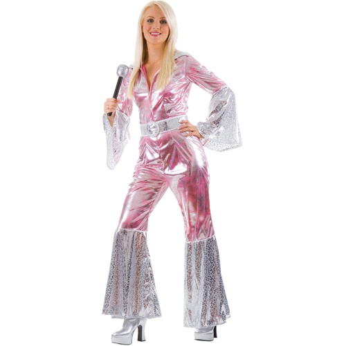 Ladies Waterloo 70s 1970s Pop Abba Jumpsuit Hippy Fancy Dress Costume GBP 20.00