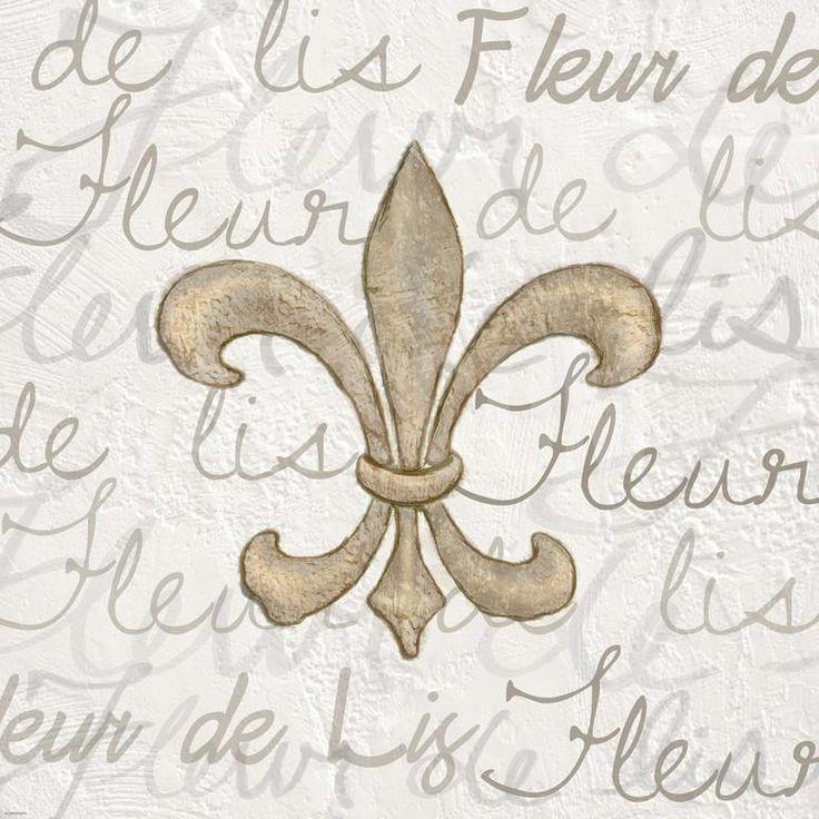 Fleur de Lis - White Art Print by Veruca Salt at Art.com