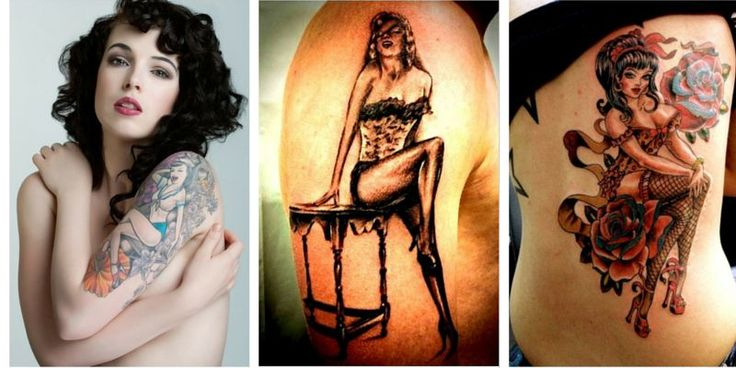 84 best pin up girl tattoos images on pinterest female for Sexy pin up tattoos