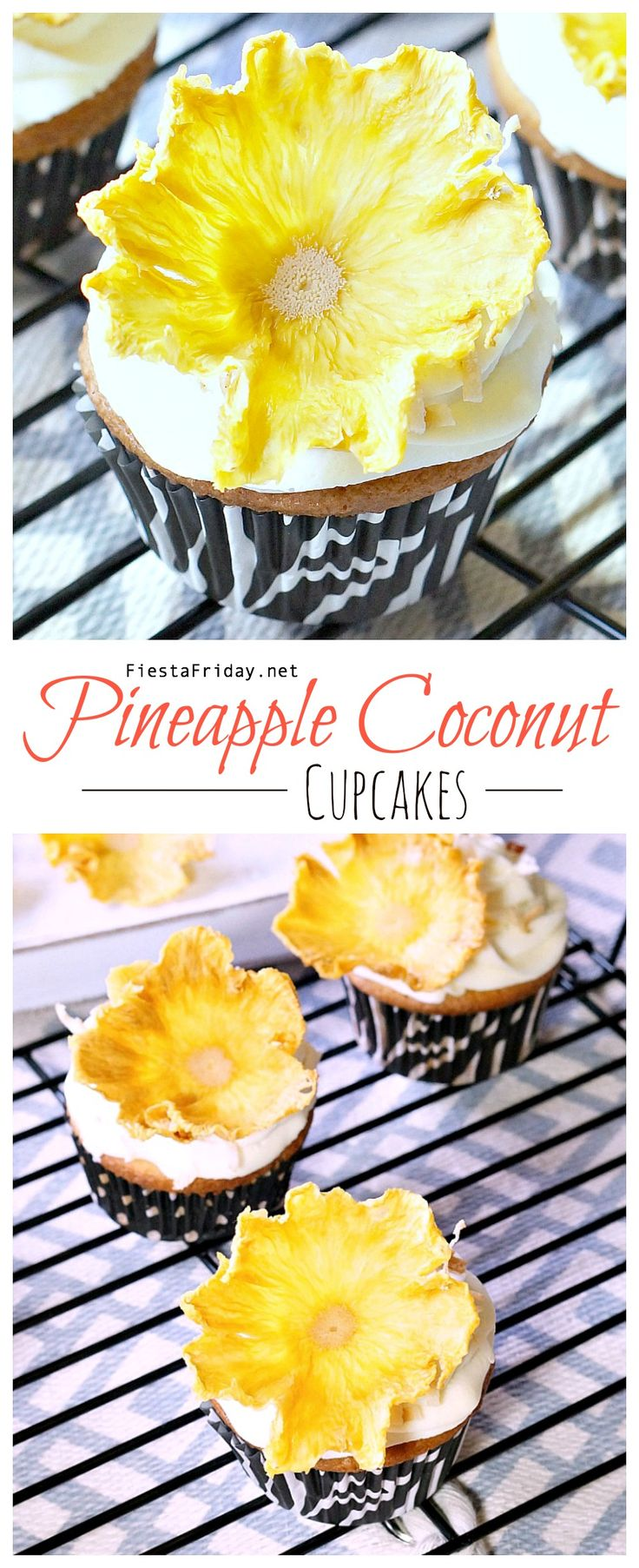 These pineapple coconut cupcakes combine the flavors of the tropics in a single bite!
