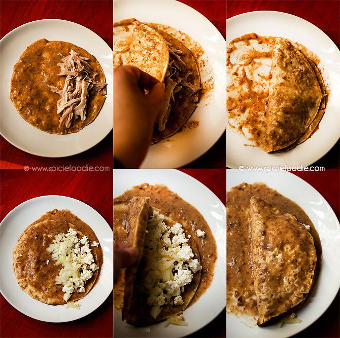 Chicken Stuffed Enfrijoladas Recipe by SpicieFoodie | #chicken #enfrijoladas #mexican #authentic #cincodemayo #beans #recipes