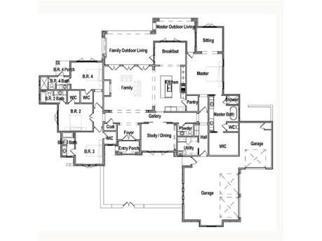 Single story 3500 sq ft outdoor living space floor plan for 3500 sq ft house plans