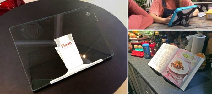 Plinth - The Ultimate Universal Tablet Stand - http://coolpile.com/gear-magazine/plinth-ultimate-universal-tablet-stand via coolpile.com #Android #Cooking #Cool #Design #iPad #Kindle #Kitchen #LaptopStands #Office #Smartphones #Style #TabletStands #Tablets #Windows #coolpile