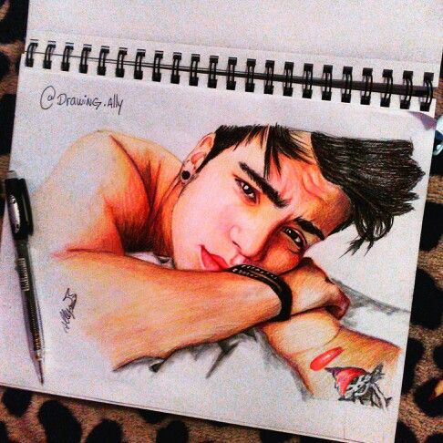 Dibujo sebastian villalobos ❤ By:(Instagram:drawing.ally)
