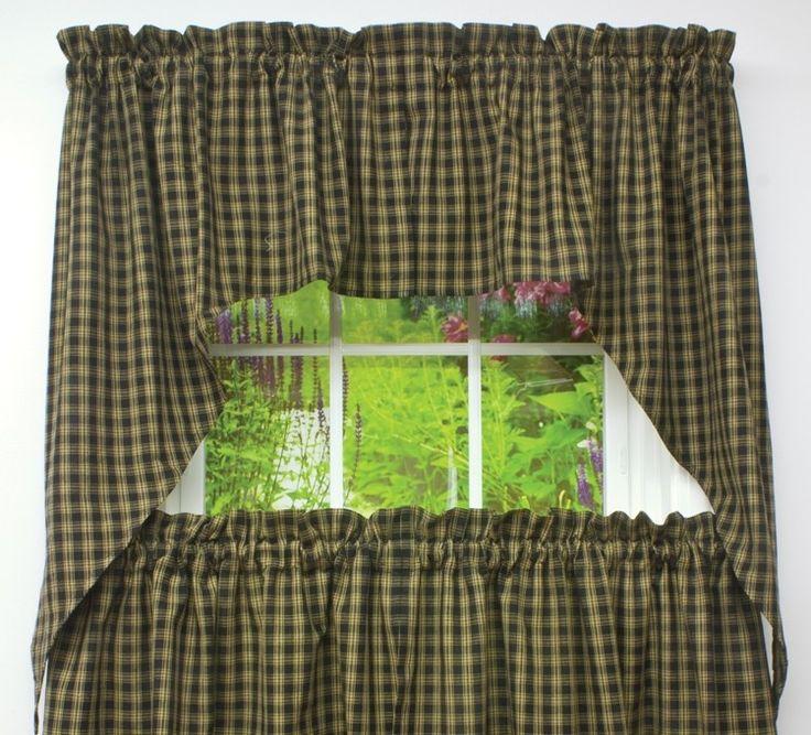 Park Design Sturbridge Lined Fishtail Swag Black: Best 25+ Swag Curtains Ideas On Pinterest