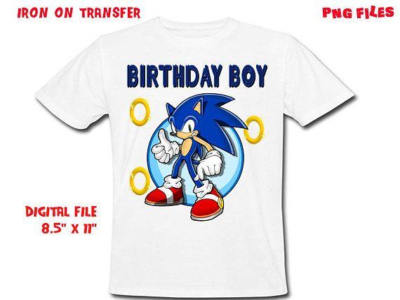 Sonic Iron On Transfer Birthday Boy Sonic Boy Birthday Shirt Design Sonic Boy Diy Shirt Digital Files Birthday Boy Shirts Sonic Birthday Boy Birthday