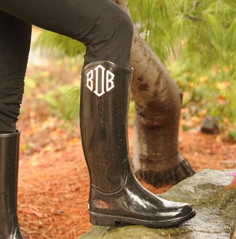 Yes, pleaseeeee!: Baby Rain, Rain Boots, Rainy Day, Clothing, Monograms Boots, Black Boots, Monograms Rainboot, Women Monograms, Cowboys Boots