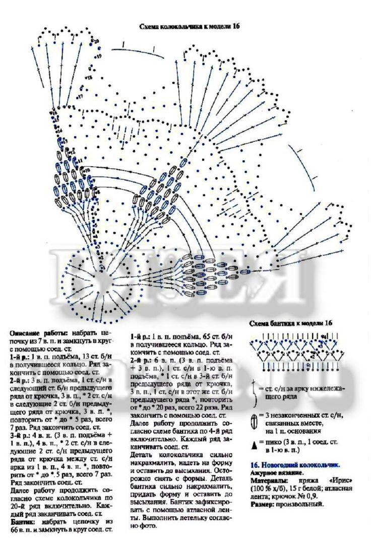 Колокольчик крючком схема