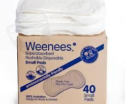 Weenees Pads: Flushable, compostable, biodegradable pads!