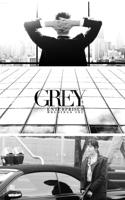'My destination is the headquarters of Mr. Grey's global enterprise. It's a huge twenty-story office building, all curved glass and steel, an architect's utilitarian fantasy, with Grey House written discreetly in steel over the glass front doors. It's a quarter to two when I arrive, greatly relieved that I'm not late as I walk into the enormous – and frankly intimidating – glass, steel, and white sandstone lobby' Fifty Shades Of Grey