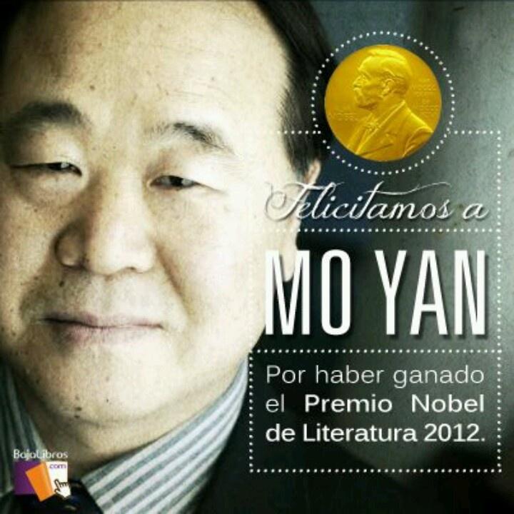 Mo Yan ganó el premio Nobel de literatura en 2012. Merecidísimo.