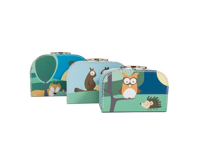 Sebra kuffertsæt i blå - Tinga Tango Designbutik til børneværelset