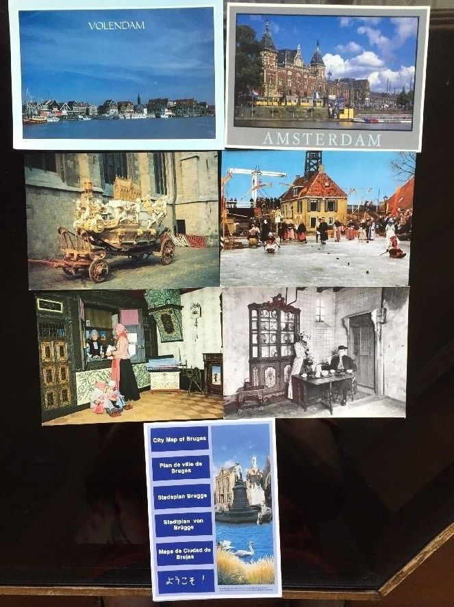 Netherlands Driving Map%0A Holland Netherlands Postcards Lot   Map Attractions Volendam History Unused