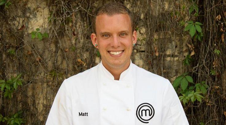 Highway on my plate: Matt Sinclair in Masterchef Australia.