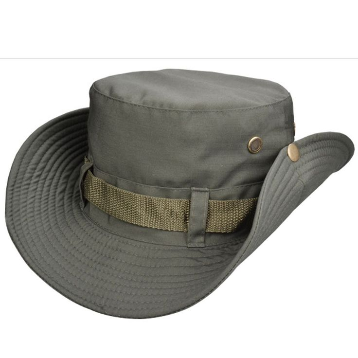 Beylor Bucket Hat with String Sun Hat Cotton Fishing Hat for Fishing Camping Hiking Hunting (Army Green)
